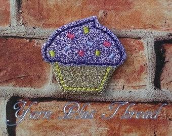 Cupcake Feltie Embroidery Design