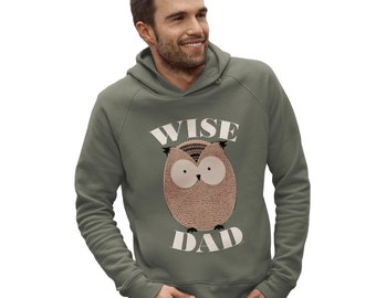 Men's Wise Dad Owl Hoodie