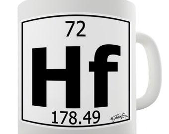 Periodic Table Of Elements Hf Hafnium Ceramic Tea Mug