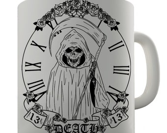Death Tarot Card Ceramic Mug