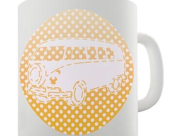 Camper Hippie Van Orange Ceramic Mug