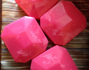 Wax Melts - pink gem shaped