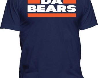 Men's Da Bears Chicago Football Tee Sports Fan Athletic T-Shirt