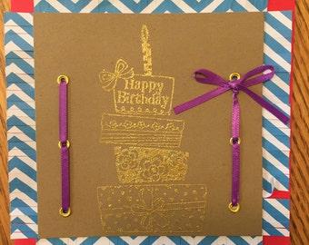 Happy Birthday - Embossed
