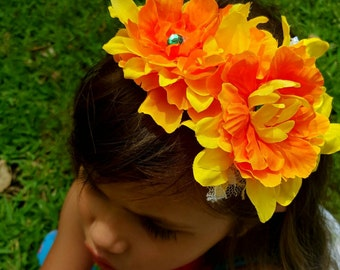 Spring floral head band