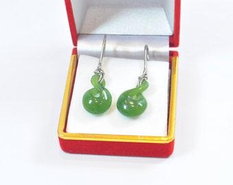 Nephrite earrings -twist