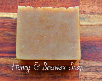 SOAP -Honey & Beeswax Soap - Natural soap, Organic soap, Vegan soap, Jewish soap, Artisan soap, Handmade soap