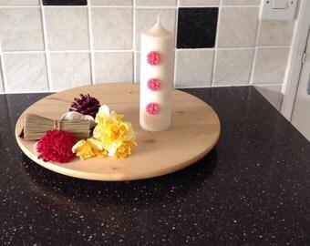 Decorated pillar candle