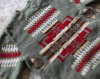 Pendleton Navajo Pattern - 100% Lambswool Sweater