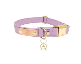 The O+A All-Leather Collar // Lavender