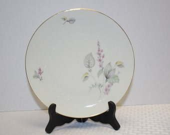 Vintage Winterling Barbel China Plate - Pastel Floral with gold trim made in Bavaria 1960's