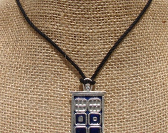 Argentium Silver and Enamel Dr Who Pendant