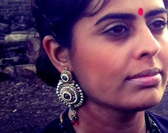 Handmade Indian ornamental Rose bud earrings