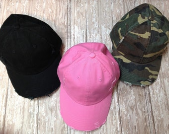 Pink, black and camo hat