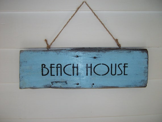 Rustic Beach Sign, Reclaimed Wood