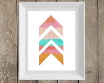Chevron Watercolor Pastel