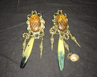 Vintage Gold Earrings. Free Shipping