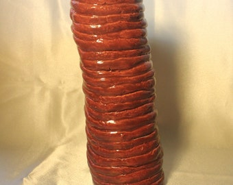 Burnt Sienna Ceramic Coil Vase