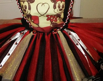 Minnie Mouse Tutu with suspenders