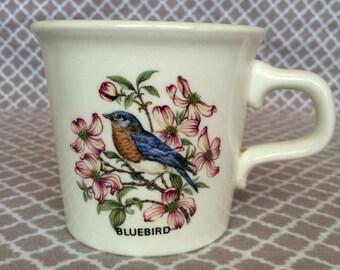 Vintage bluebird coffee mug - taylor international - made in the usa
