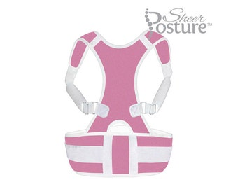 SheerPosture™ Posture Trainer, Posture Brace, Posture Back Brace One Size Fits Most - Pink