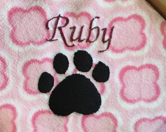 Baby Girl Blanket, Baby Boy Blanket, Pet Blanket, Embroidered, Personalized