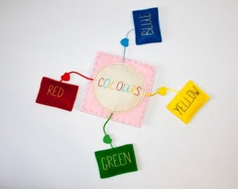 "Felt educational toy ""Colors"""
