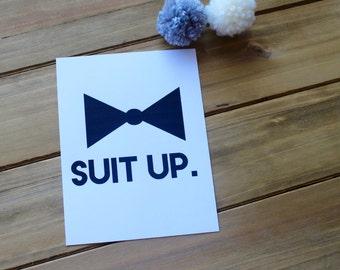Suit Up - Groomsman Card