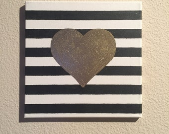 Embossed Gold Heart