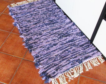 Blue and Violet Wool Rug