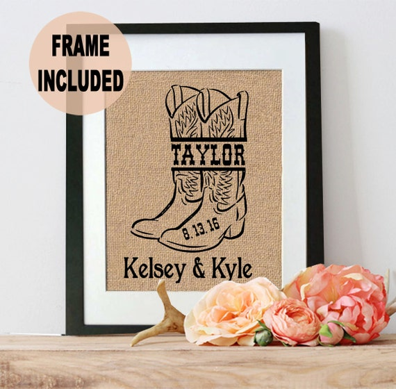 Wedding Gifts For Country Couple : Country Wedding Gifts Last Name Prints Gift for Her Bridal Shower ...