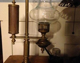 Antique Brass Student Hurrican Desk Lamp