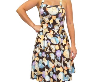 Seashell Print Sundress - 15-010