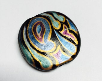 Hand Painted Glass Bead - 1 Piece - #318