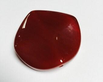 Chunky Carnelian Bead/Pendant - 2 Pieces - #341