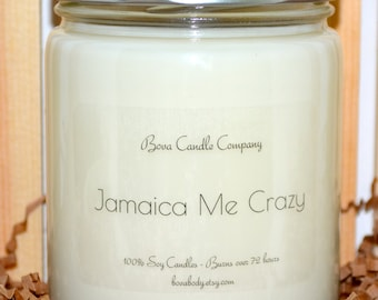 Jamaica Me Crazy Scented Large Soy Candle 16oz