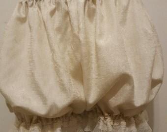 Cream Silk Bubble Bloomers