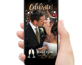 Wedding Snapchat filter // Celebrate! // CUSTOMIZED