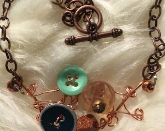 Copper twist necklace