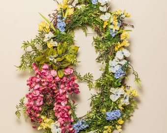 Oval Shaped Spring/Summer Wreath