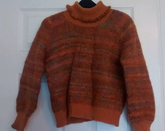 Orange/brown handmade jumper