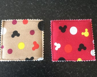 Micky Mouse coasters - set of 2