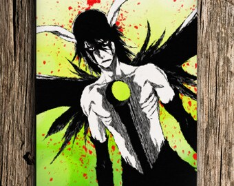 Ulquiorra Bleach Anime Poster, Bleach, Anime Print, Anime Watercolor Wall Art, Anime Poster, Bleach Anime