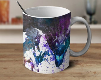 Kindred, League of Legends Kindred, League of Legends Coffee Mug, League of Legends Watercolor Mug, Coffee Mug, Color Changing Mug,