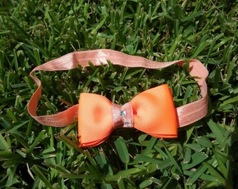 Orange Bow Headband #233
