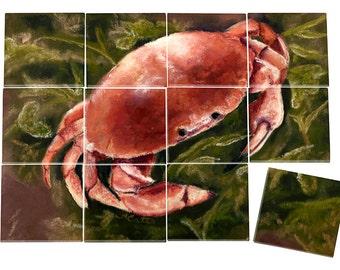 Crab Ceramic Mural