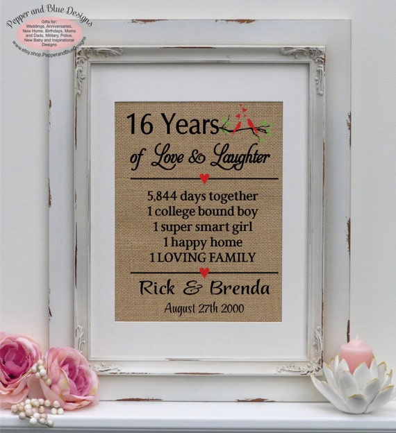 Wedding Gifts By Years: 16th Wedding Anniversary Gifts 16 Years By