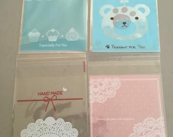 20-50 pcs Kawaii Clear Bags
