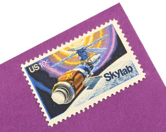 25 Skylab Space NASA Postage Stamps! - 10c - Vintage 1974 - Unused - Quantity of 25