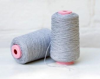 Grey linen yarn, natural yarn, summer yarn, grey yarn, grey linen, steel grey, natural color, weaving yarn, Ukrainian linen, crochet yarn